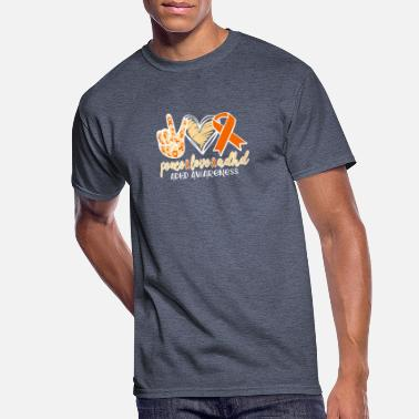 Attention Peace Love and ADHD Awareness Attention Defecit - Men's 50/50 T-Shirt