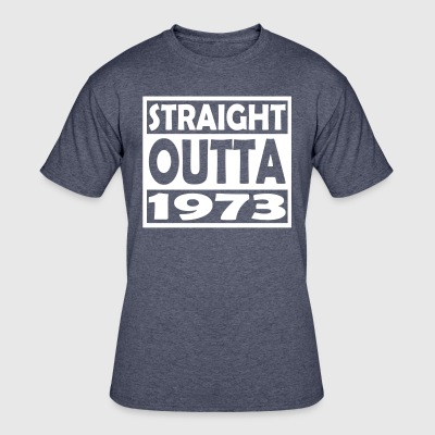 44th Birthday T Shirt Straight Outta 1973 - Men's 50/50 T-Shirt