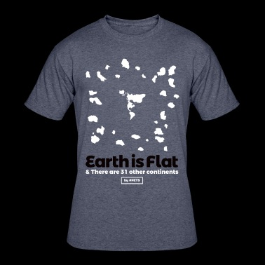 Flat Earth Design by #FETS - N°2 - Men's 50/50 T-Shirt
