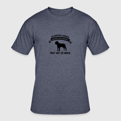 Funny Boston Terrier Designs - Men's 50/50 T-Shirt