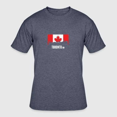Canadian Flag Toronto Skyline - Men's 50/50 T-Shirt