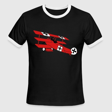 Fokker Roter Baron Red Air Combat First World War - Men's Ringer T-Shirt