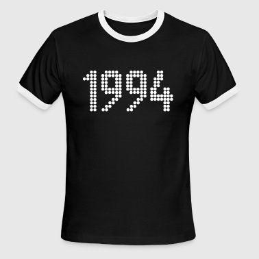 1994, Numbers, Year, Year Of Birth - Men's Ringer T-Shirt