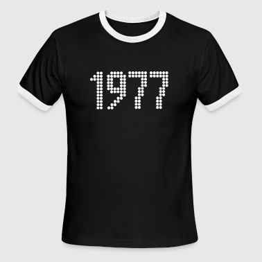 1977, Numbers, Year, Year Of Birth - Men's Ringer T-Shirt