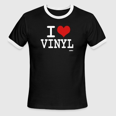 i love vinyl by wam - Men's Ringer T-Shirt