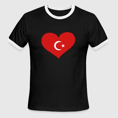 Turkey Heart; Love Turkey - Men's Ringer T-Shirt