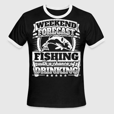 Weekend Forecast Fishing Drinking Tee - Men's Ringer T-Shirt