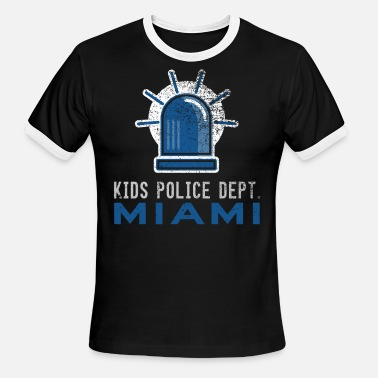 Kids Miami Future Police Officer Police Kids Miami Shirt - Men's Ringer T-Shirt