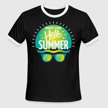 Goodbye School Hello Summer - holiday vacation - Men's Ringer T-Shirt