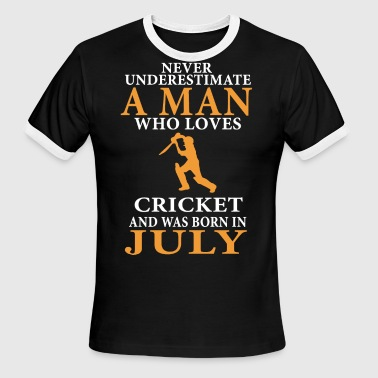 never underestimate a man who loves cricket and ww - Men's Ringer T-Shirt