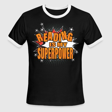 Reading Is My Superpower - Men's Ringer T-Shirt