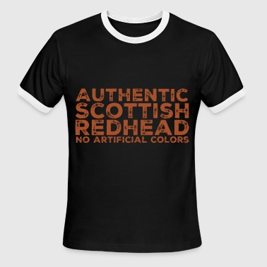 Redheads authentic scottish redhead no artificial color red - Men's Ringer T-Shirt