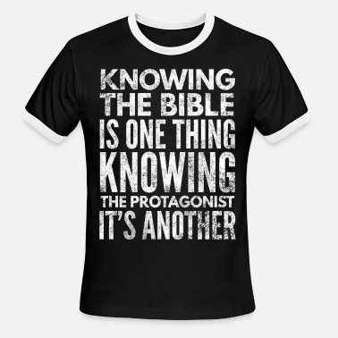 Thing One Knowing the Bible is one thing - Men's Ringer T-Shirt