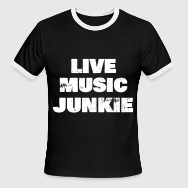 I Love Live Music live music t shirts - Men's Ringer T-Shirt