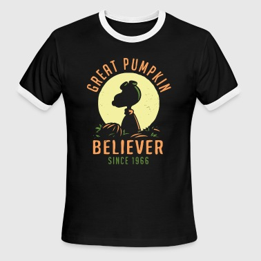 Snoopy Pumpkin great pumpkin believer since 1966 - Men's Ringer T-Shirt
