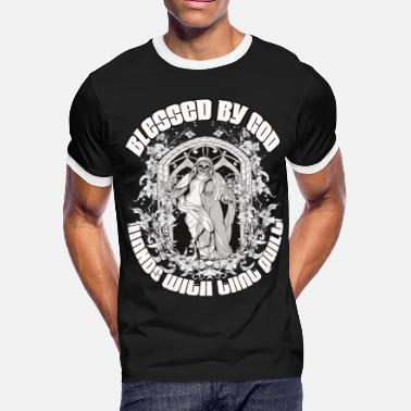 Blessed Hands Blessed By God Hands With That Quilt T Shirt - Men's Ringer T-Shirt