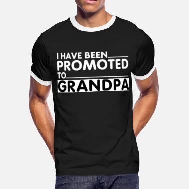 Promoted To Grandpa PROMOTED TO GRANDPA - Men's Ringer T-Shirt