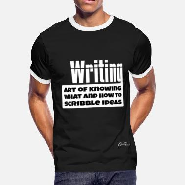Writing Quotes WordOWisdm-writing-w - Men's Ringer T-Shirt