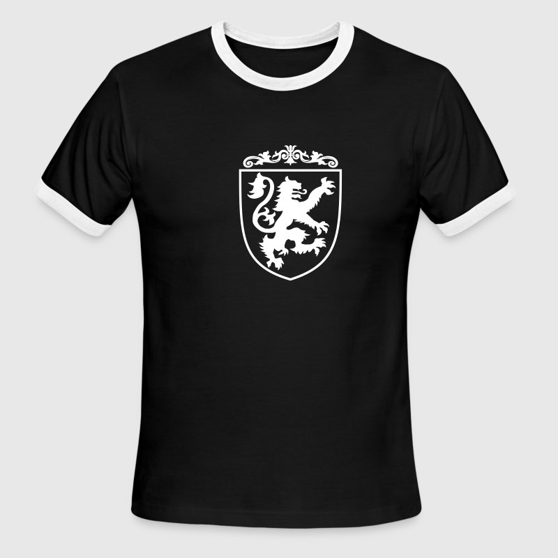Lion Shield at Coat of Arms - Men's Ringer T-Shirt