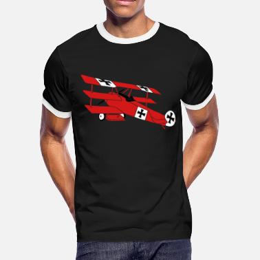 Red Baron Fokker Roter Baron Red Air Combat First World War - Men's Ringer T-Shirt