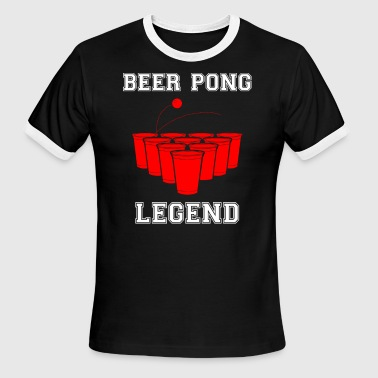 Beer Pong Legend - Men's Ringer T-Shirt