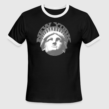 new york statue of liberty - Men's Ringer T-Shirt
