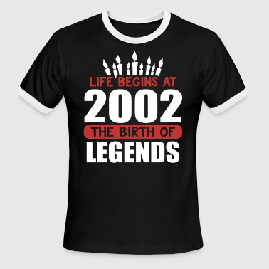 The Birth of Legends Funny Birthday T Shirt 2002 - Men's Ringer T-Shirt