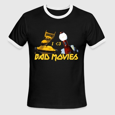I Love Bad Movies - Mystery Science Theater 3000 - Men's Ringer T-Shirt