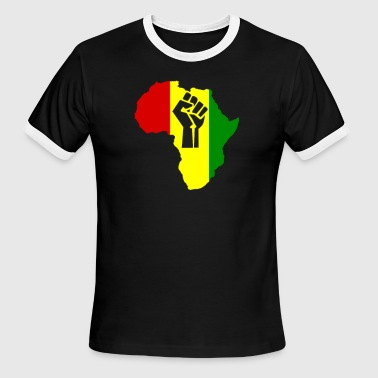 Slogan Reggae Africa Power Rasta Reggae Music - Men's Ringer T-Shirt