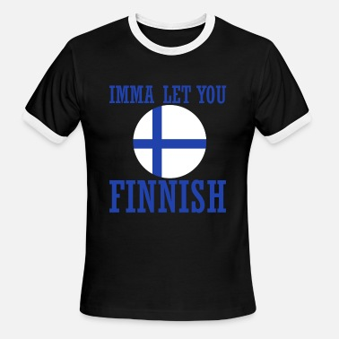 Vacation Country Finland flag country cope vacation funny - Men's Ringer T-Shirt