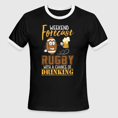 Weekend Rugby Forecast Weekend Forecast Rugby T Shirt - Men's Ringer T-Shirt