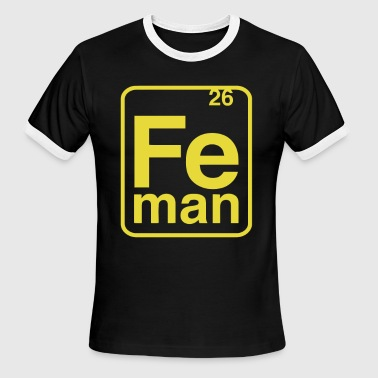 Science Class Elemental table cool science class Professor chemi - Men's Ringer T-Shirt