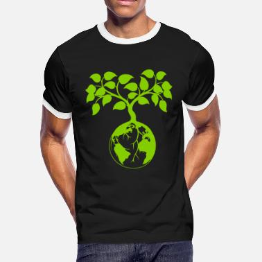 Nature Clean Air earth tree - Men's Ringer T-Shirt