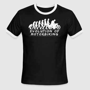 Motorbike Evolution Evolution of Motorbiking - Men's Ringer T-Shirt