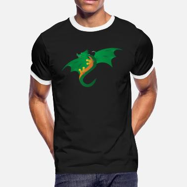 Green Dragon dragon - Men's Ringer T-Shirt