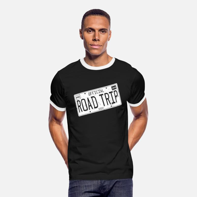 Road T-Shirts - Road Trip 2016 Shirts - Men's Ringer T-Shirt black/white