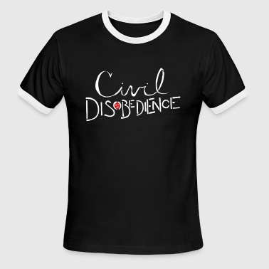 Obey Resistance Civil Disobedience - Men's Ringer T-Shirt
