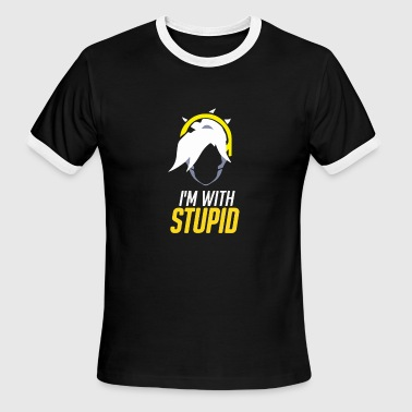 Im With Stupid Funny im with stupid - Men's Ringer T-Shirt