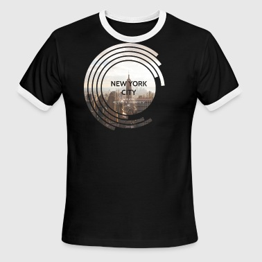 Empire State Building New York New York City - Empire State Building - Spectrum - Men's Ringer T-Shirt