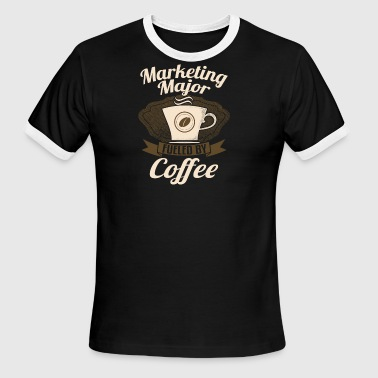Marketing Major Fueled By Coffee - Men's Ringer T-Shirt