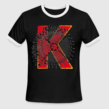 K Name Letter Art T-Shirt - Men's Ringer T-Shirt