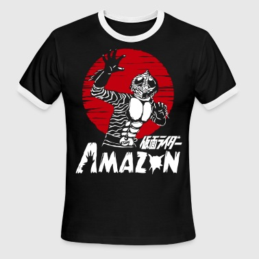 MASKED KAMEN RIDER AMAZON - Men's Ringer T-Shirt