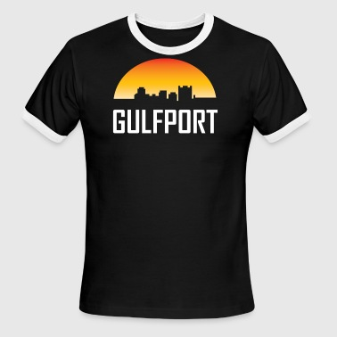 Gulfport Mississippi Sunset Skyline - Men's Ringer T-Shirt