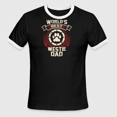 World's Best Westie Dad - Men's Ringer T-Shirt