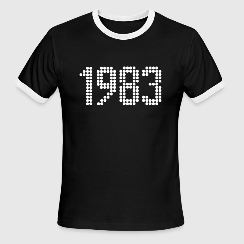 1983, Numbers, Year, Year Of Birth - Men's Ringer T-Shirt