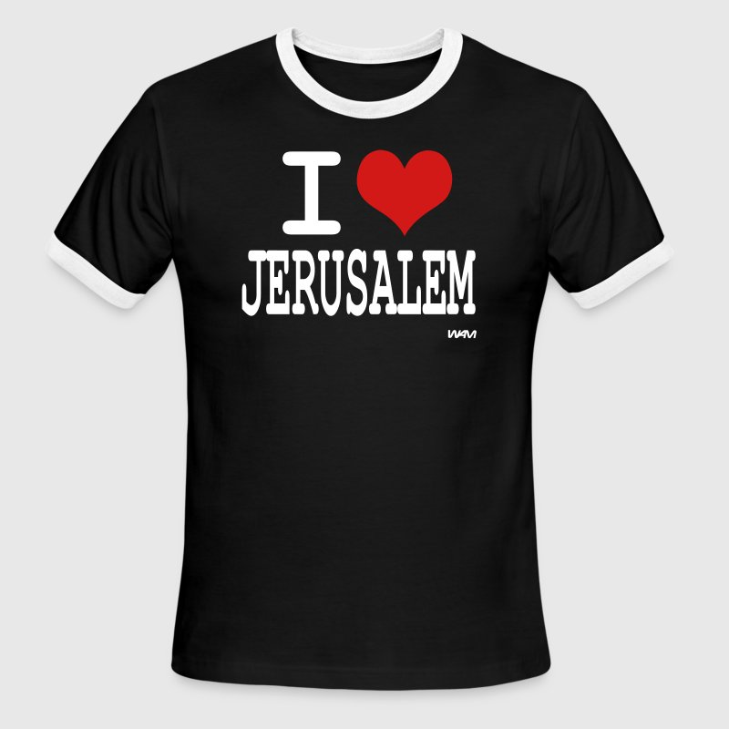 i love jerusalem by wam - Men's Ringer T-Shirt