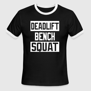 Porn Power Lifting Squat - Powerlifting Deadlift Bench Squat Worko - Men's Ringer T-Shirt