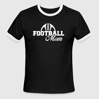 Mom Football Football mom - football mom - Men's Ringer T-Shirt