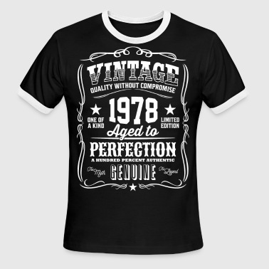 Vintage 1978 Aged to Perfection - Men's Ringer T-Shirt