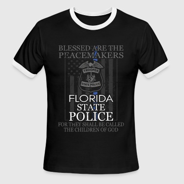 Florida Greats Florida Highway Patrol Florida State Trooper Shirt - Men's Ringer T-Shirt